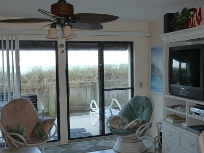 Living Room with View to the Beach