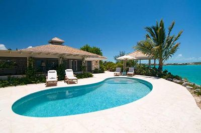 View from Private Gazebo, Private Pool, Main/Guest House & private ocean dock
