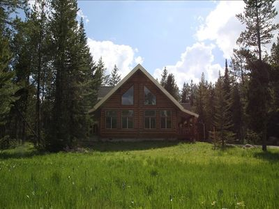 Lariat Lodge sits on a three acre lot for peace and privacy in Island Park Idaho