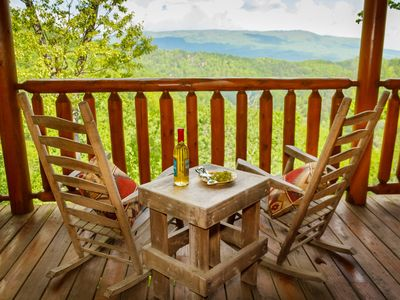 Photo for Spectacular views of the Great Smoky Mountains in this adorable cabin.