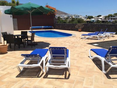 Photo for 3 bedroom villa with large terrace and pool in Playa Blanca