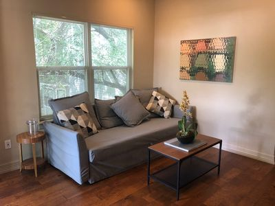 Photo for Freshly decorated apartment minutes from downtown, blocks from the UT campus