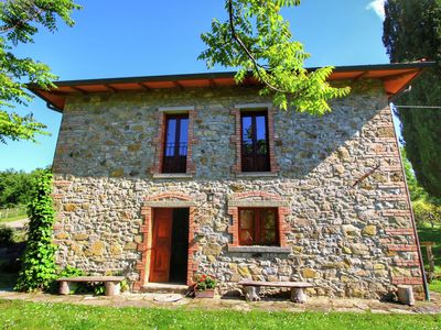 Photo for Farmhouse with private pool, large garden with BBQ and great views
