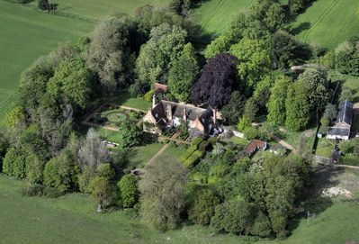 Aerial View of Blo Norton Hall and Gardens
