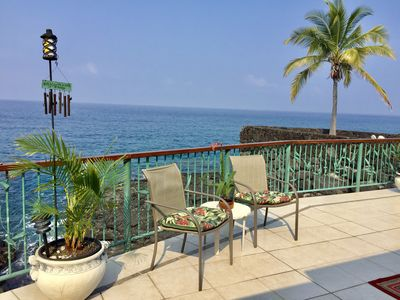Photo for Oceanfront, 5 STAR, Home 3 BR/3 BA, wonderful lanaii and  Jacuzzi (Sleeps 8)