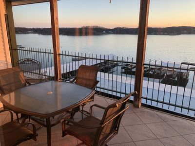Photo for Newly Updated 1200 sqft 3 BR, 2BA Lake Front Condo.  Full kitchen, , free WIFI,