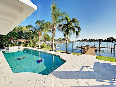 Photo for 2BR Waterfront Home w/ Private Pool, Patio & Dock