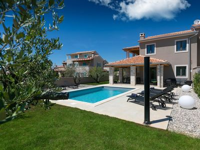 Photo for Modern villa with private swimming pool, near Lanterna beach and 9 km from Porec