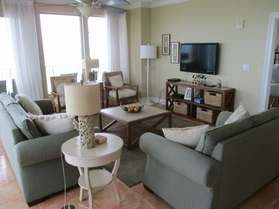 Photo for Gulf Crest 3 Bedroom; Wrap around balcony; Beach Service Included