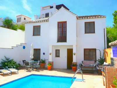 Photo for Casa Sol - Cottage with mountain view, pool of 21 m², barbecue -Andalucía