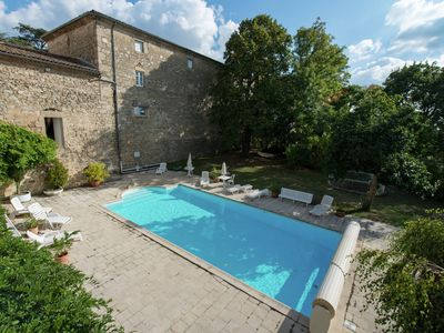 Photo for Castle with swimming pool, beautiful gardens and golf course within walking distance