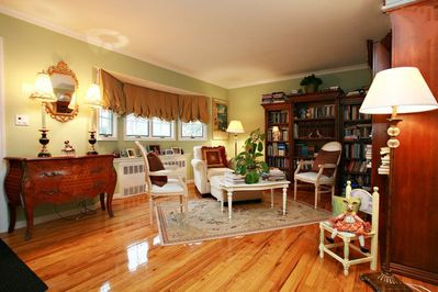 Come browse in our Living Room/Library