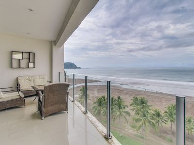 Photo for Gorgeous oceanfront retreat with sweeping views and a shared pool!