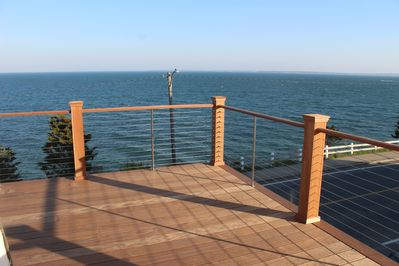Enjoy vast ocean views on our brand new second floor deck
