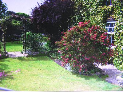 Private garden for guests to enjoy