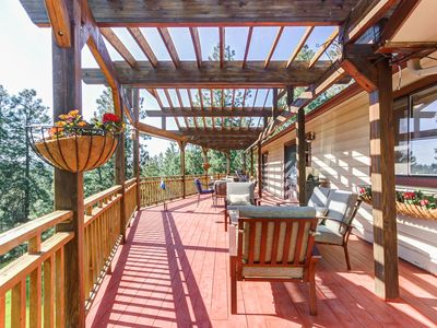 Photo for Large family home w/ 10 acres, a large deck & a game room - dogs welcome!
