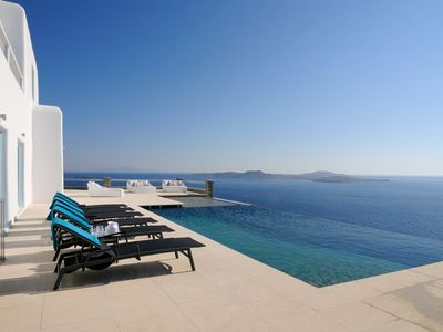 Photo for Incredible 7 Bedroom Timon Villa, Mykonos. Contact Exceptional Villas for Best Rates!