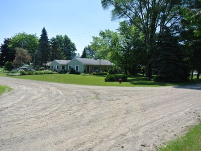 Photo for Charming cottage by Lexington, MI with lake view & private beach access.