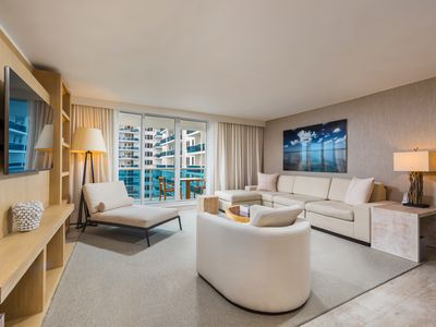 Photo for Oceanview 3bd/3ba Plus Den in Luxury Eco-Hotel Private Residence South Beach