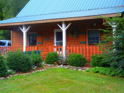 Photo for Beautiful Log Cottage Located Along Pine Creek