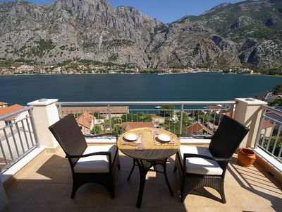 Photo for Beautiful apartment with pool and sea view of Kotor