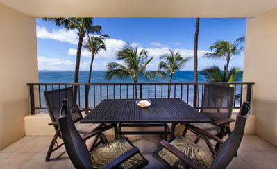 Enjoy majestic panoramic ocean views from this beautiful 1 bedroom ocean front platinum rated condo
