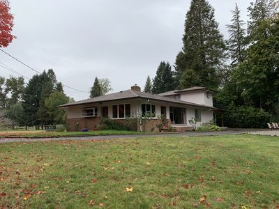 Photo for Gorgeous Views of Rogue River from house, patio, lawn and large deck/balcony