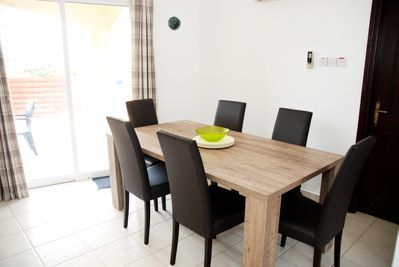 Dining area for six