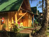German huts, cabins with cozinnha and air conditioning!