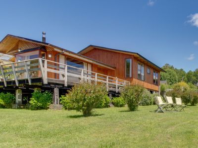 Secluded, dog-friendly, waterfront home with room for everyone!