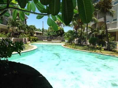 Photo for TRIPLEX 100m from the beach, swimming pool, secure residence, at ♥ Grand Bay
