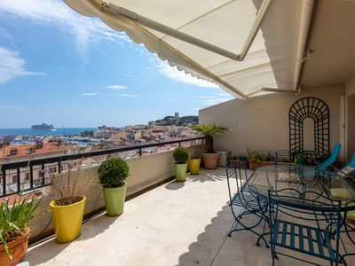Photo for Vaneau - 3 BR apartment with sea view and huge terrace