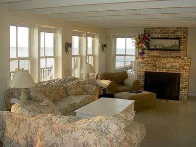 Photo for Nantucket Style oceanfront home directly on a sandy beach