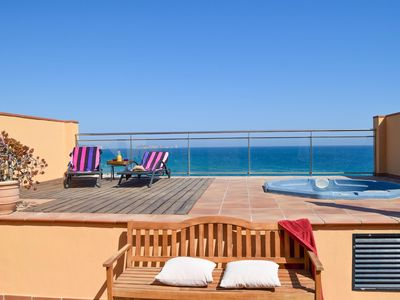 Photo for Beachfront with community garden and pool. Private Jacuzzi and big solarium