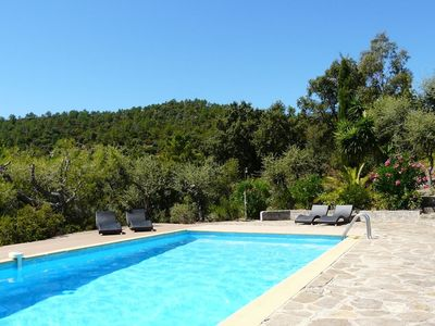 Photo for Provencal villa, beautiful sea and hills views, very quiet, swimming pool
