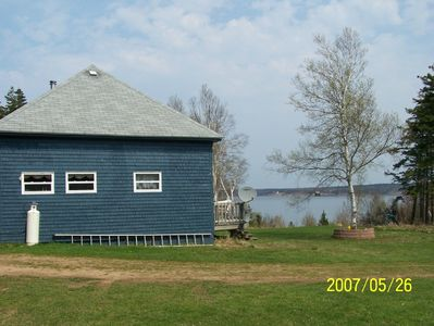 Exterior with view of the Bras D'or Lakes