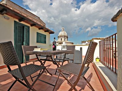Photo for PRIVATE STUNNING terrace - views over Rome's rooftops