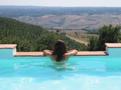 Photo for Villa with extraordinary view on the border between Tuscany and Umbria.