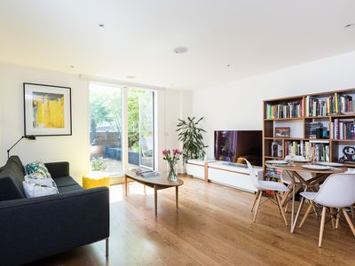 Photo for Modern 2BR flat in Shoreditch with Terrace - Two Bedroom Apartment, Sleeps 4