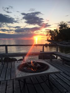 Pier On lake to have a fire and watch the sunsets