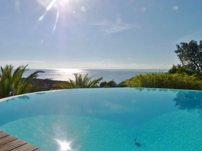 Photo for Magnificent sea view for this beautiful villa with swimming pool, in a private domain