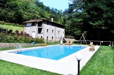View to villa over Pool
