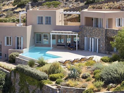 Photo for Luxury villa Elleni 2 in Crete, with private pool, sea view, 6 bedrooms, 12 sleeps