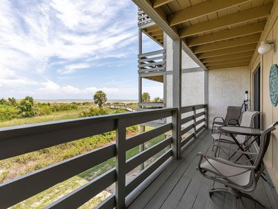 Beachfront Condo on North End with Community Pool, First Floor Steps from Pool and Beach Access