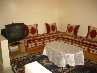 Photo for Conditioning quality apartment with elevator in a residence in Marrakech.