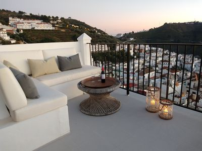 Photo for Spacious stylish village house with 3 terraces, JACUZZI,WIFI, sea / village /mo