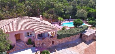 Photo for Dream vacation in a hillside villa in Figari, Corsica