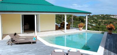 Villa Florence -  Ocean View - Located in  Beautiful Marigot with Private Pool