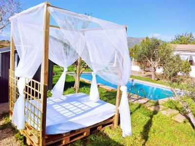 Photo for Finca for 2 to 5 people, wifi, private pool, barbecue, 10 minutes from the beach