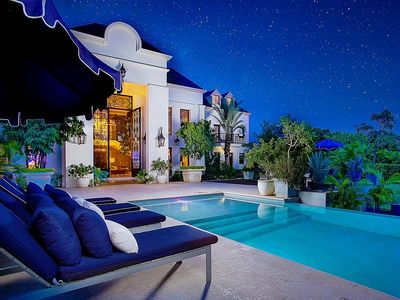 Photo for Contemporary Chateau in the Caribbean, Infinity Pool, Staff, Movie Theatre, AC, Free Wifi